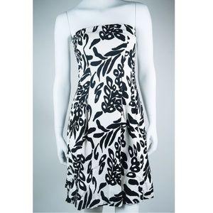 WHITE HOUSE BLACK MARKET Floral Strapless Dress 2